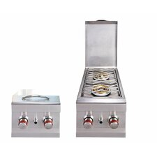 Slide-in Natural Gas Double Side Burner