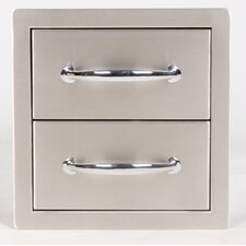 Flush Double Access Drawer