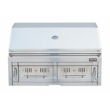 """42"""" Charcoal Dual Zone 304 SS Grill"""