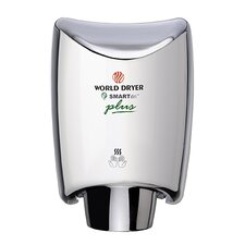 SmartDri Plus Single-Port Nozzle 110-120 Volt Hand Dryer in Brushed Chrome