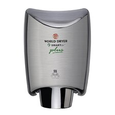 SmartDri Plus Single-Port Nozzle 208-240 Volt Hand Dryer in Brushed Chrome