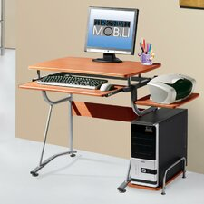 <strong>Techni Mobili</strong> Compact Computer Desk with Keyboard Tray and Side Accessory Shelf