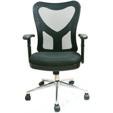 <strong>Techni Mobili</strong> Mid-Back Mesh Fully-Adjustable Office Chair