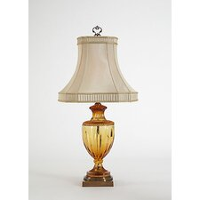 "Amber 31"" H Table Lamp with Bell Shade"