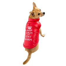 Keep Calm Puffer Dog Jacket
