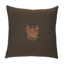 Pearse Polyester Embroidered Crest Decorative Pillow