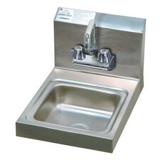 "Economy Wall Mounted 12"" x 16"" Hand Sink with Faucet"