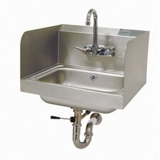 "<strong>Advance Tabco</strong> 17"" x 15"" Hand Sink with Faucet"