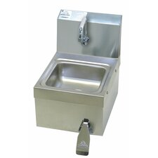 "<strong>Advance Tabco</strong> Space Saver Free 12"" x 16"" Hand Sink with Faucet"
