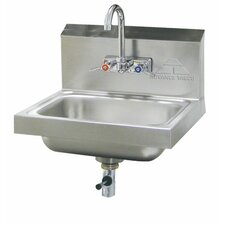 "<strong>Advance Tabco</strong> 15"" x 17"" Hand Sink with Faucet"