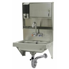 "Wall Mounted 21"" x 21"" Hand Sink with Faucet"