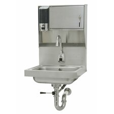"Hands Free 15"" x 17"" Hand Sink with Faucet"