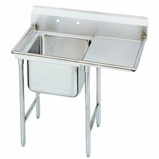 "T-9 Series 81"" x 27"" 1 Compartment Scullery Sink"