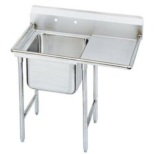 930 Series Seamless Bowl 1 Compartment Scullery Sink