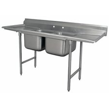 930 Series Seamless Bowl 2 Compartment Scullery Sink