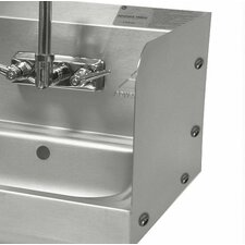 "<strong>Advance Tabco</strong> Bolted Side Splash for 10"" x 14"" Sinks with Splash Mount Faucets"