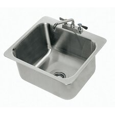 <strong>Advance Tabco</strong> 304 Series Seamless Bowl 1 Compartment Drop-in Sink with Faucet