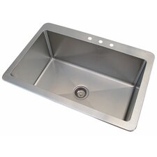 Fabricated Bowl 1 Compartment Drop-in Sink