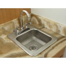 "31"" x 25"" 1 Compartment Seamless Bowl Drop In Sink"