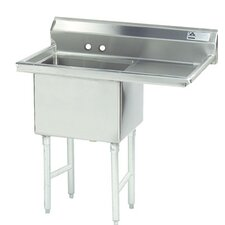 <strong>Advance Tabco</strong> Fabricated Bowl 1 Compartment Scullery Sink