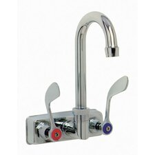 "Wall Mounted Gooseneck Faucet with 4"" Centers"