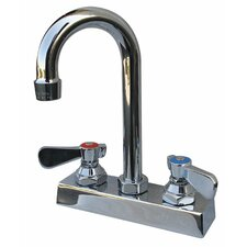"Heavy Duty Deck Mount 10.6875"" High Gooseneck Faucet with 4"" Centers"