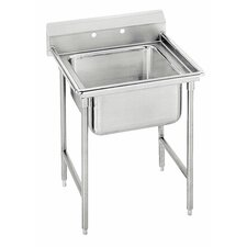 "T-9 Series 25"" x 27"" 1 Compartment Scullery Sink"