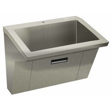 "Wall Mount ADA Compliant 36"" x 20"" 1 Compartment Scrub Sink"
