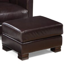 Carrington Leather Ottoman