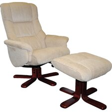 Shangri La Swivel Recliner and Footstool