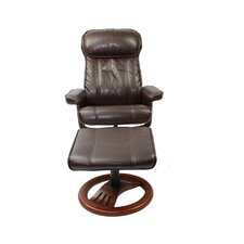 Dublin Swivel Recliner and Footstool