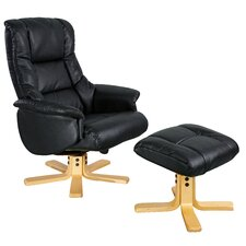 Shanghai Swivel Recliner and Footstool