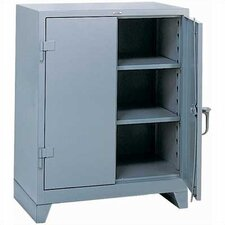 "All-Welded Storage Cabinet with 2 Shelves: 42 "" H x 36"" W x 21"" D"