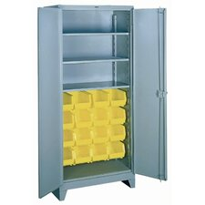 "Shelf/Bin Cabinet: 82"" H x 36"" W x 21"" D"