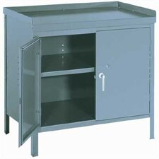 "Cabinet Bench: 34"" H x 36"" W x 24"" D"