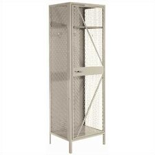 Expanded Metal Team Locker - 1 Section (Unassembled)