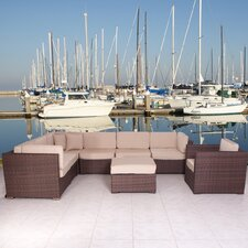 <strong>International Home Miami</strong> Marseille 8 Piece Deep Seating Group with Cushions