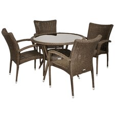 <strong>International Home Miami</strong> Atlantic 5 Piece Dining Set