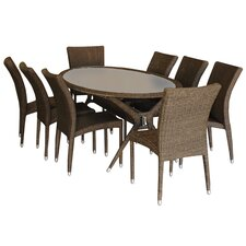 <strong>International Home Miami</strong> Bari 9 Piece Dining Set