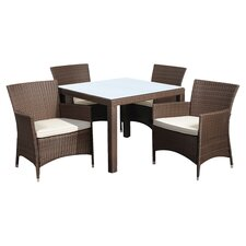 <strong>International Home Miami</strong> Atlantic Liberty Deluxe 5 Piece Dining Set