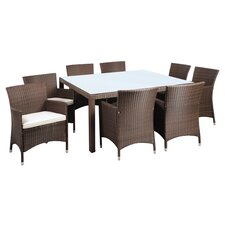 <strong>International Home Miami</strong> Atlantic Liberty Deluxe 9 Piece Dining Set