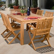 <strong>International Home Miami</strong> Amazonia Brasilia 7 Piece Dining Set