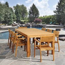 Loon 9 Piece Teak Rectangular Dining Set