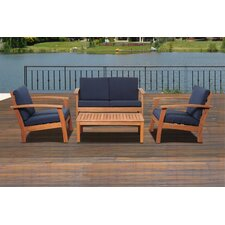 Amazonia Chicago 4 Piece Deep Seating Group with Cushions II