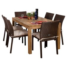 Amazonia Brownsville 7 Piece Dining Set With Cushions