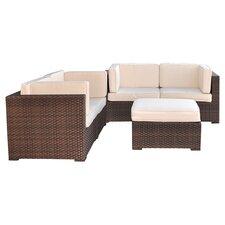 Nice 5 Piece Deep Seating Group with Cushions