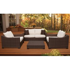 <strong>International Home Miami</strong> Kingston 4 Piece Deep Seating Group with Cushions