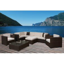 <strong>International Home Miami</strong> Southampton 9 Piece Sectional Deep Seating Group with Cushions