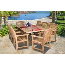 <strong>International Home Miami</strong> Amazonia Teak  9 Piece Dining Set