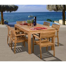 <strong>International Home Miami</strong> Amazonia Fairmont 7 Piece Dining Set